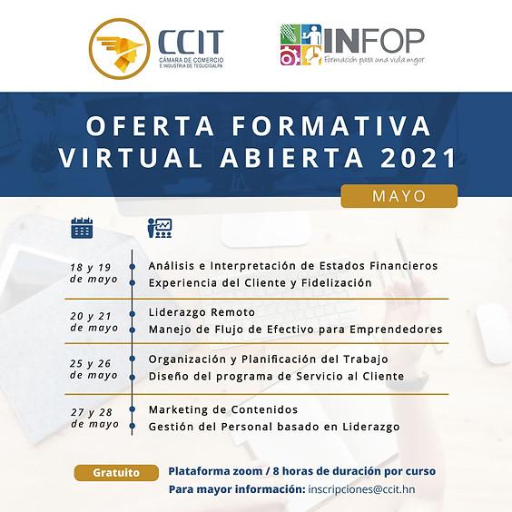 Oferta formativa virtual abierta - mayo 2021