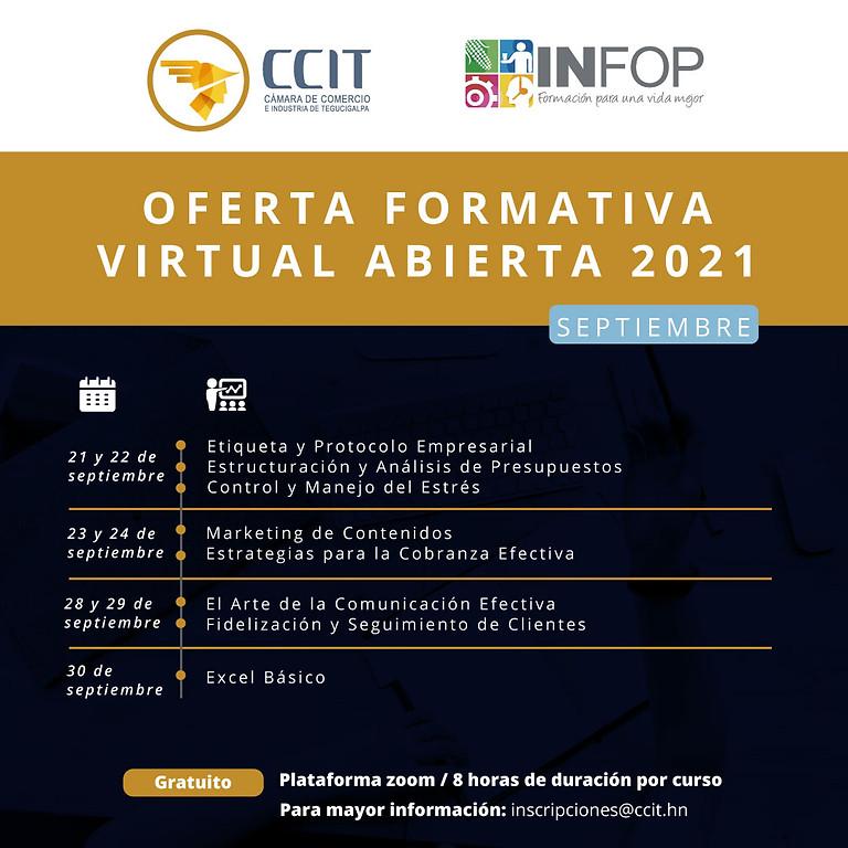 Oferta formativa virtual abierta - del 21  al 30 de septiembre