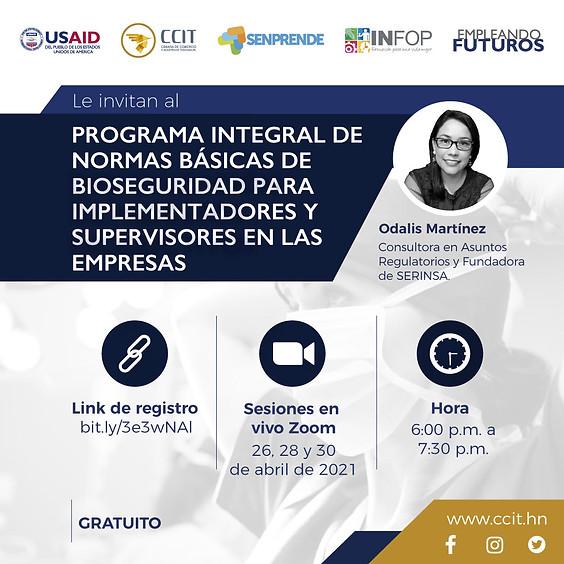 Programa Integral de Normas Básicas de Bioseguridad para Implementadores y Supervisores en las Empresas
