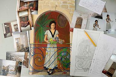 Croquis - Léonor Rieti - Artiste peintre à Paris, artiste trompe l'oeil