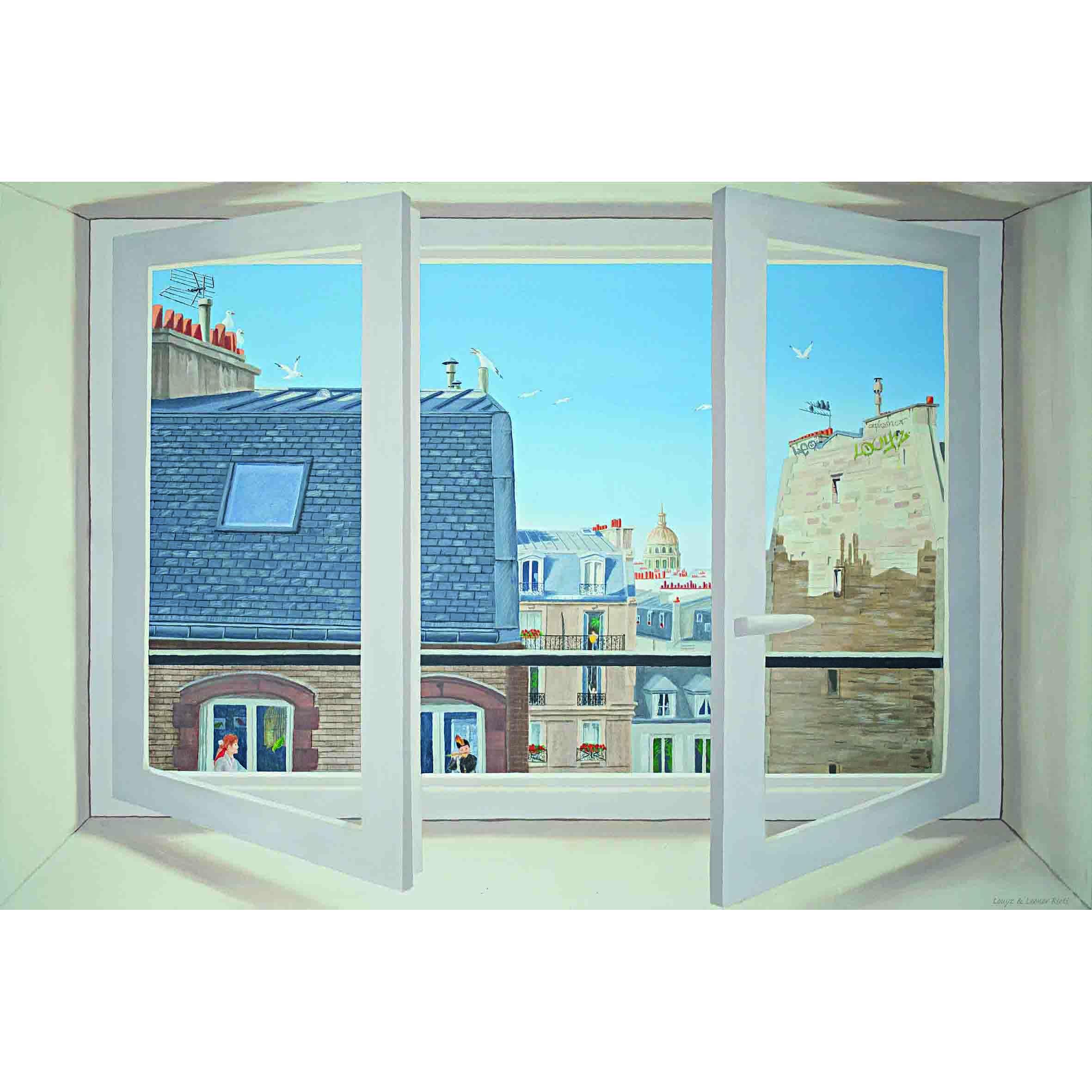 Artiste Peintre à Paris Peinture Trompe Loeil Leonor Rieti