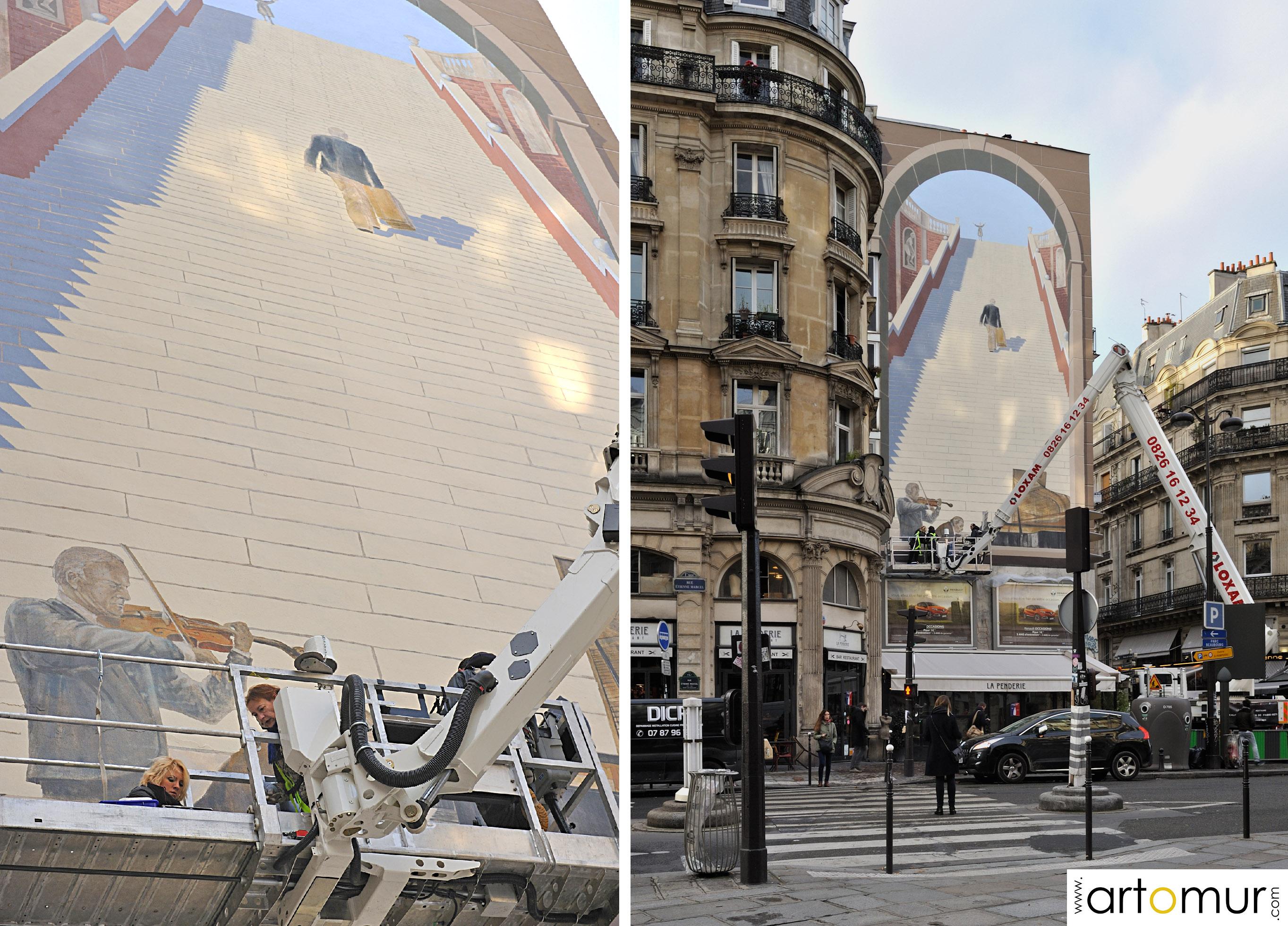 Mur peint Etienne Marcel