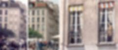 trompe l'oeil, fausses fenêtres, mur peint Fabio Rieti