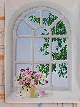 cours de peinture trompe l 39 oeil et stages leonor rieti. Black Bedroom Furniture Sets. Home Design Ideas