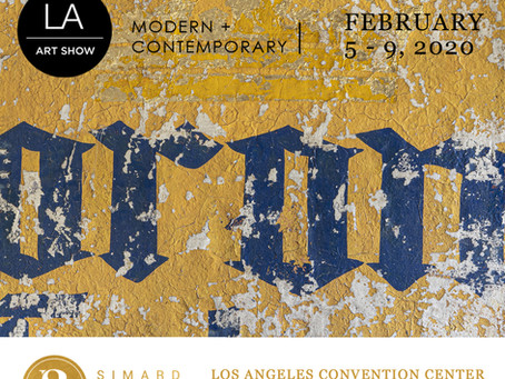 Alfredo Romero's artwork at LA Art Show 2020