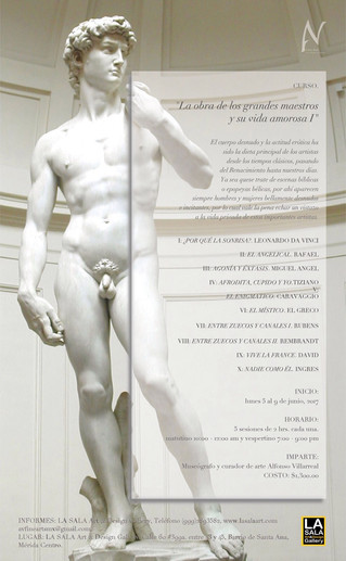LAS OBRAS DE GRANDES MAESTROS Y SUS VIDAS AMOROSAS. curso de historia del arte