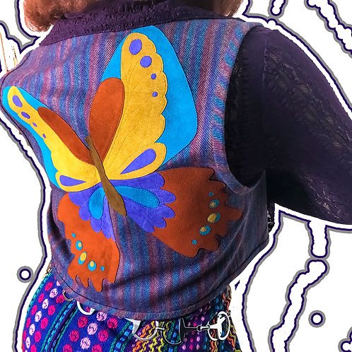 HANDMADE BUTTERFLY VEST (ONE SIZE)