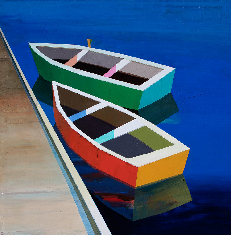 Colorful Boats in the Bay #32 | SOLD