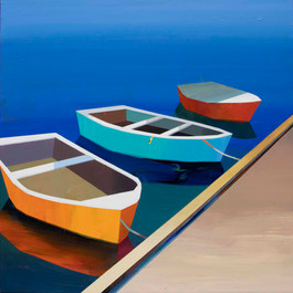 Colorful Boats in the Bay #31