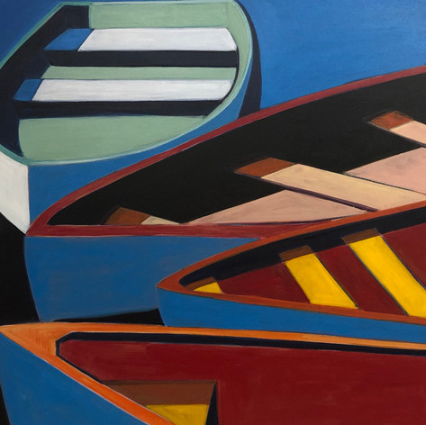 Abstract Boats with Pop Art in Mind