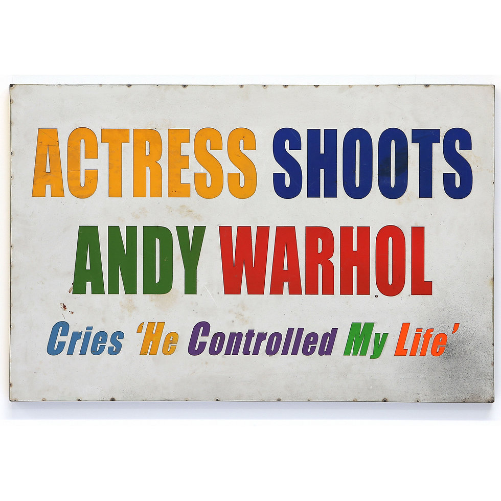 Actress Shoots Warhol