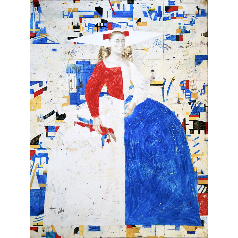 When the Bauhaus Artists Invited Infanta to their Ball, She Wore a Dress Specially Designed for Her by Kazimir Malevich