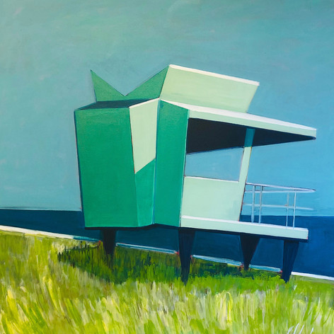 Life Guard Station with Grass