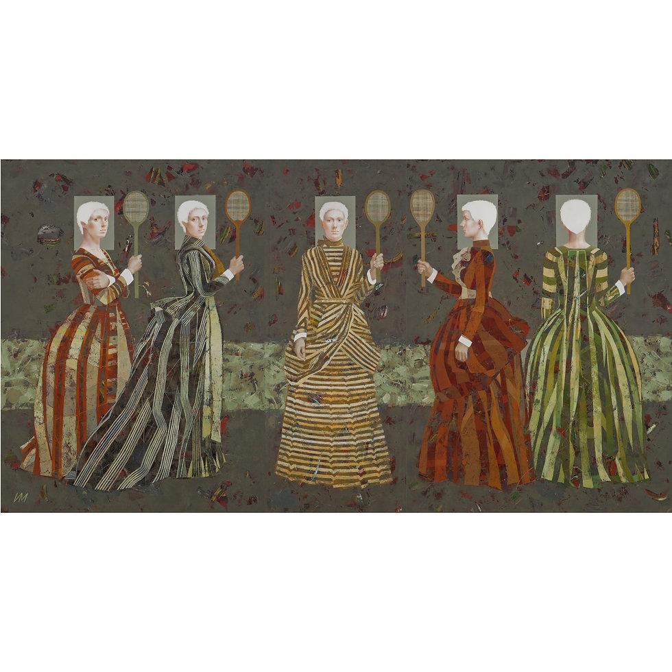 Five Striped Ladies