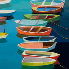 Coloful Boats in the Bay #25