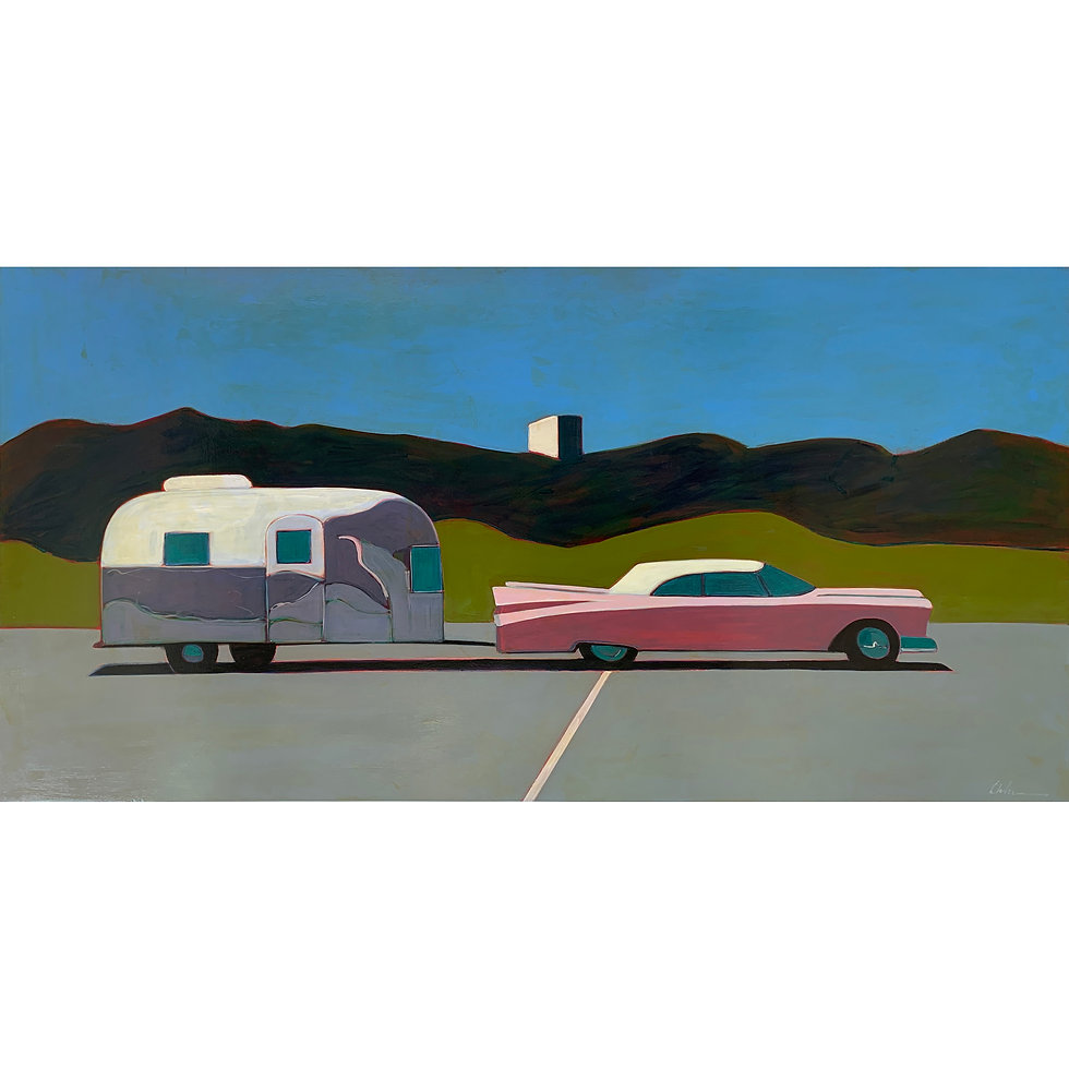 Summer Wind Airstream with Pink Cadillac