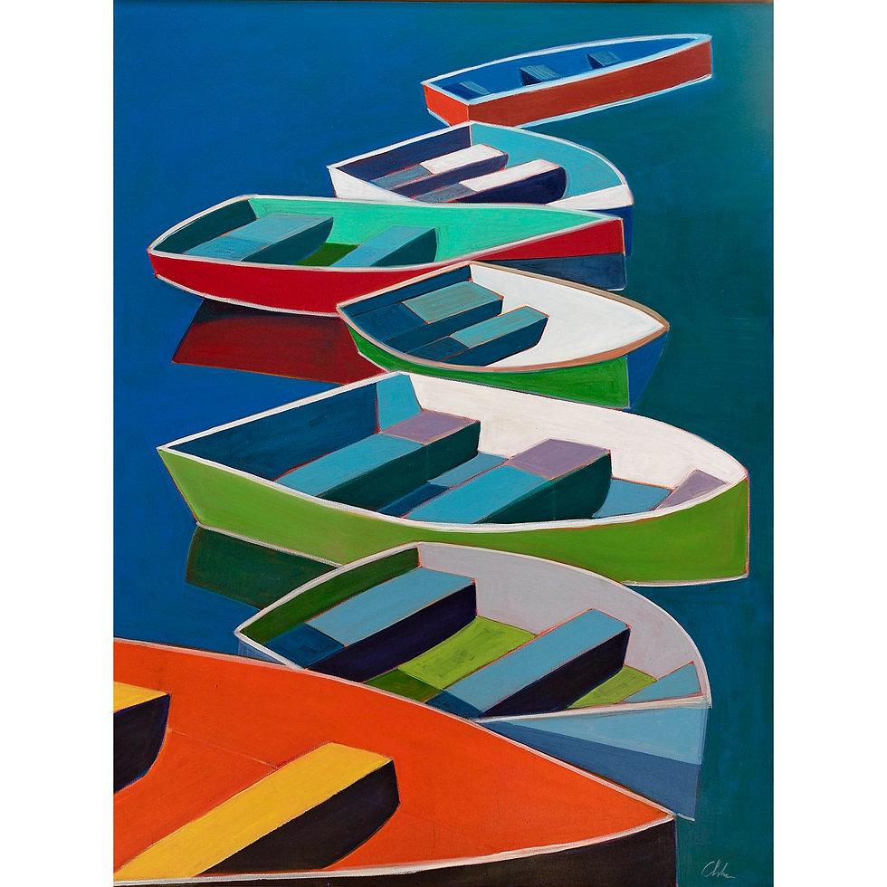Boats on a Row