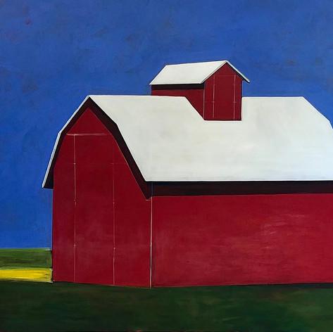 Red Barn at Noon