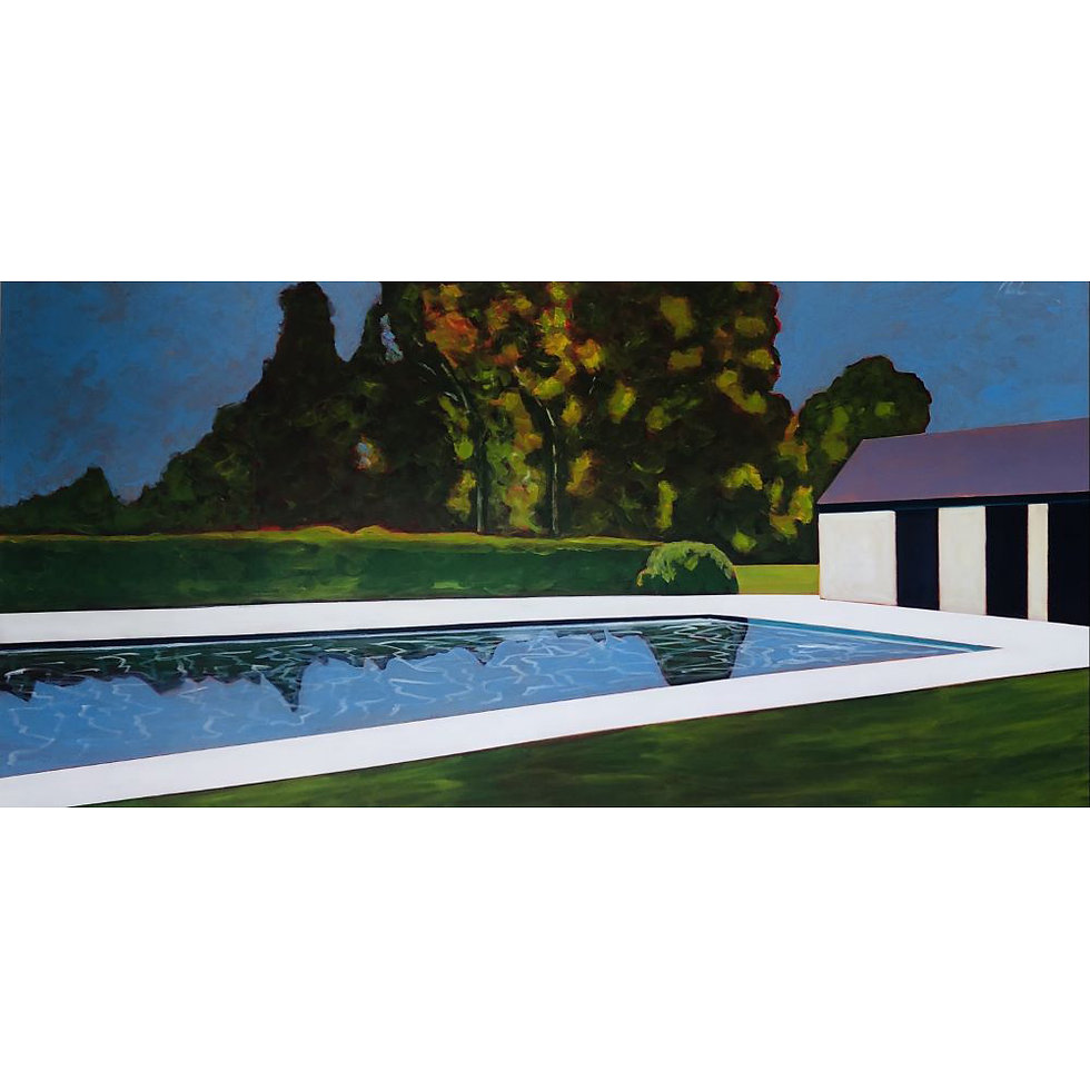 Pool with Tree Reflections | SOLD