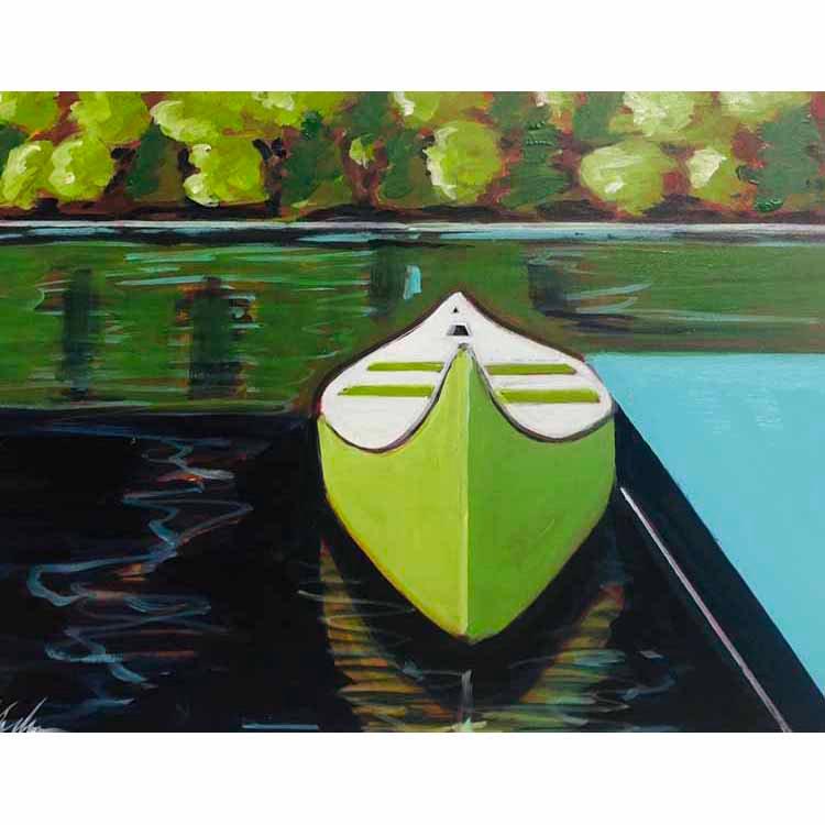 Canoe in Green
