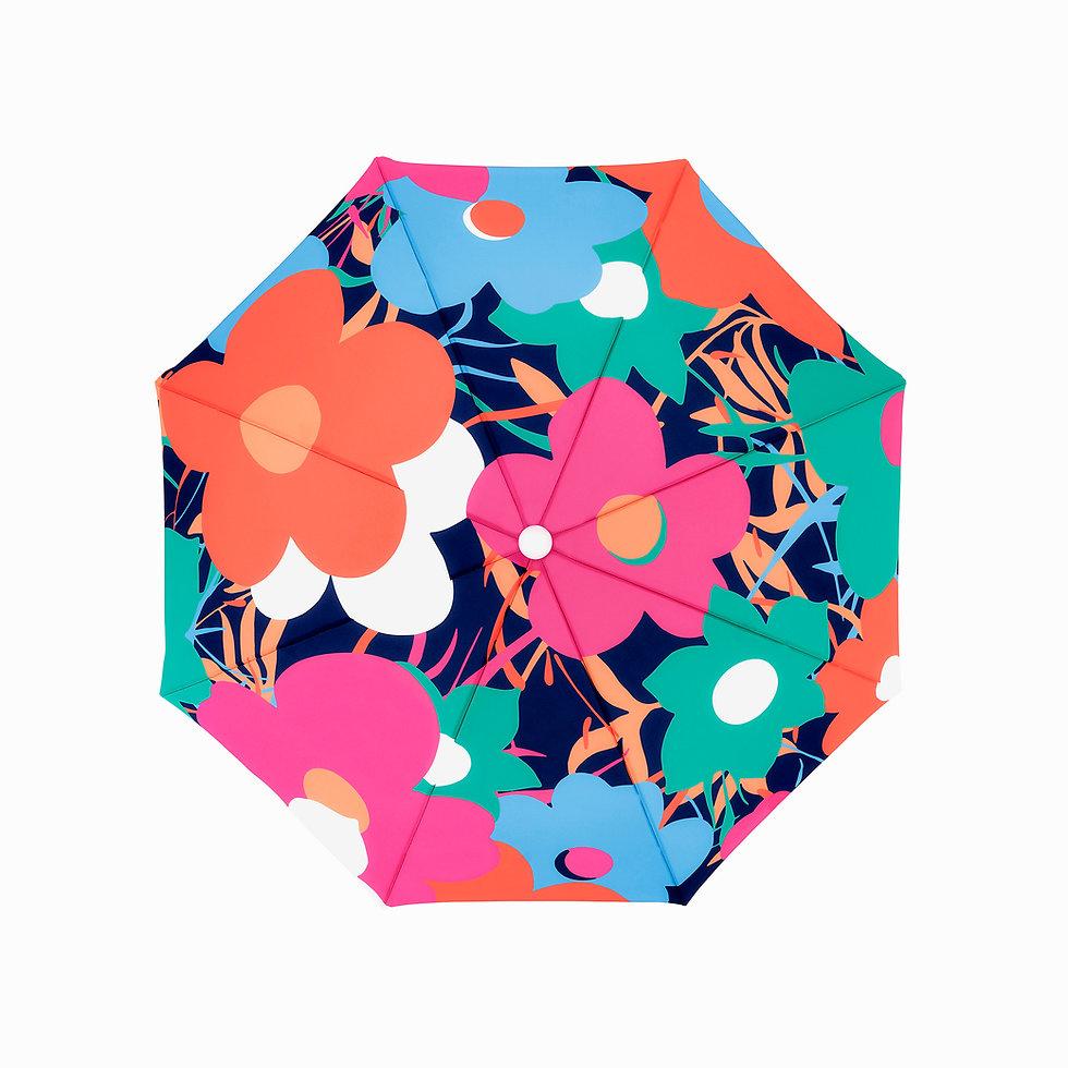 Pink Floral Beach Umbrella