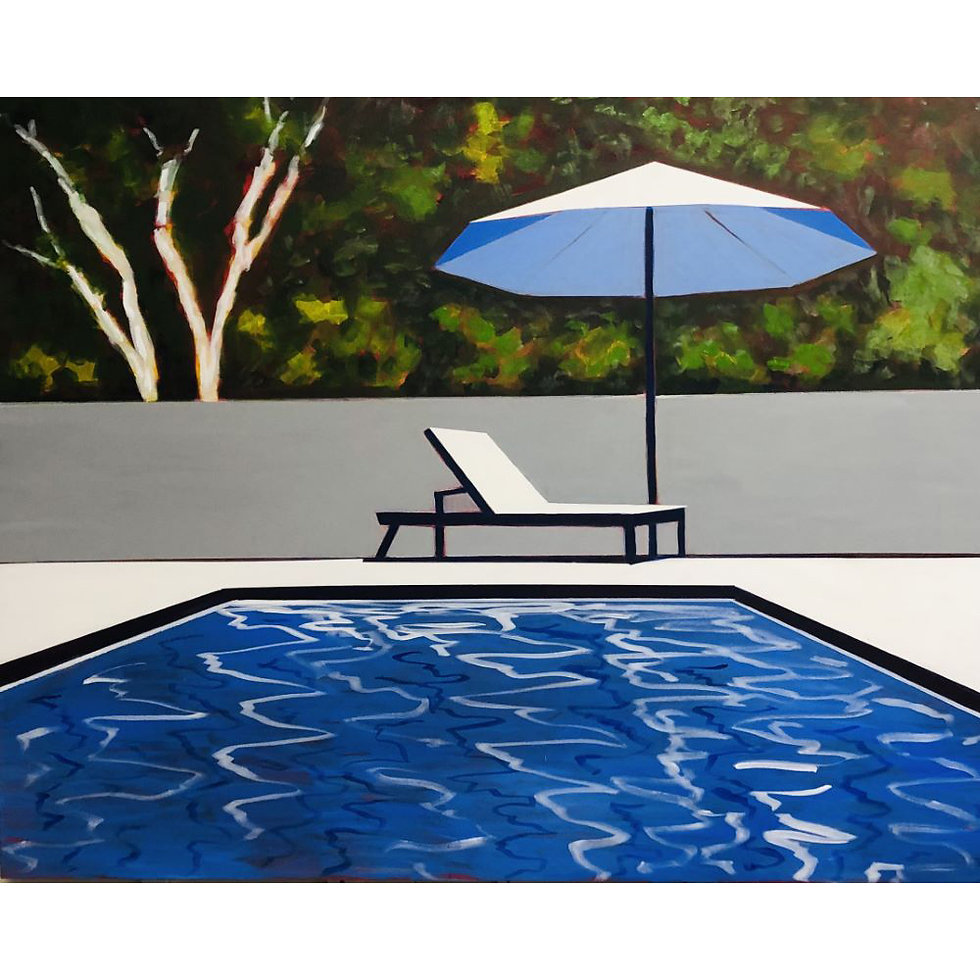 Spring Pool with Umbrella