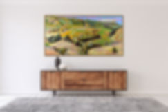 Oil on canvas California Landscape Modern Contemporary Painting by Artist Deladier Almeida