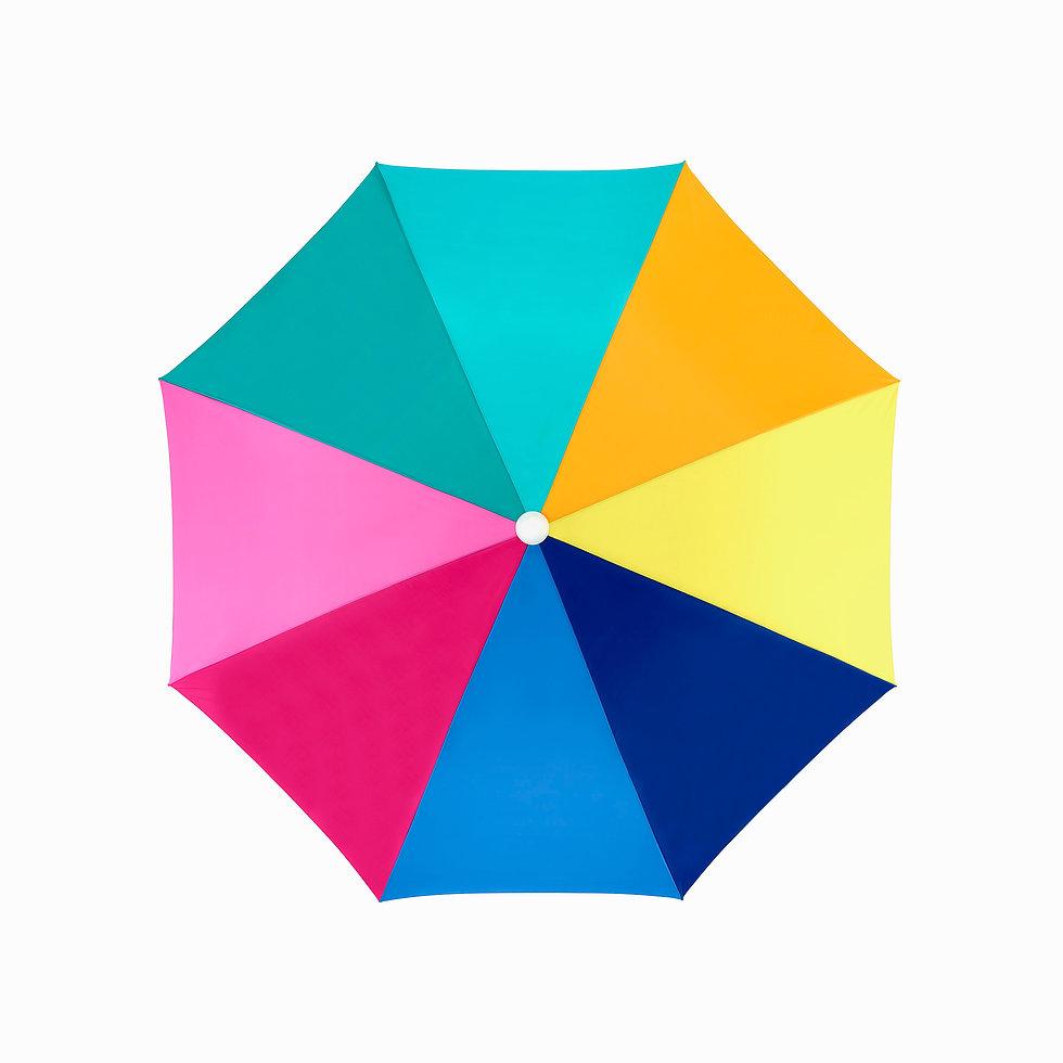 Color Wheel Beach Umbrella