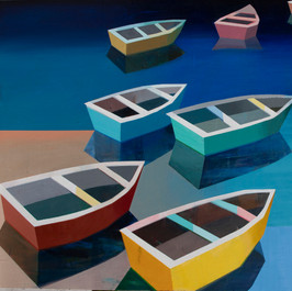 Colorful Boats in the Bay #29