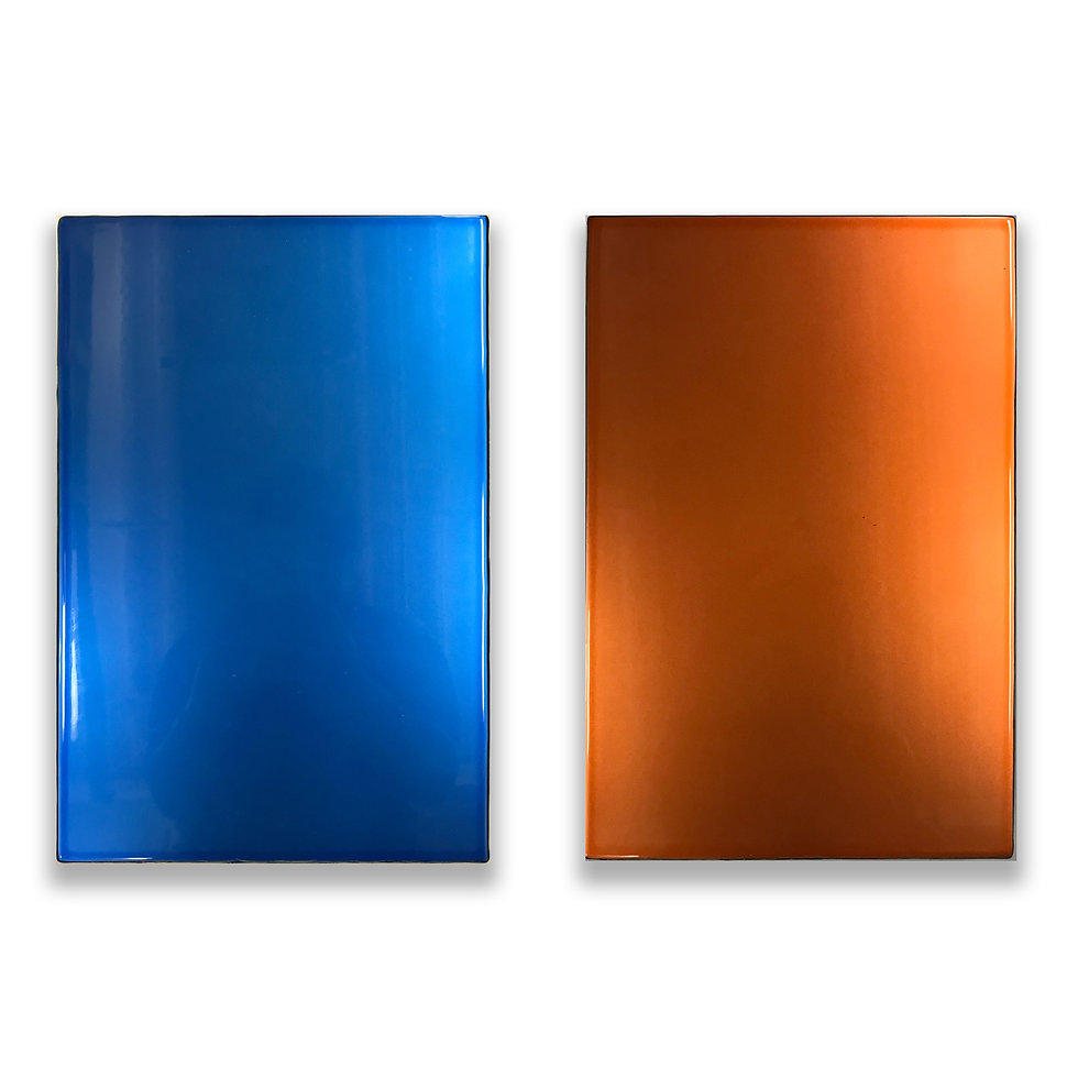 2 Wall Objects Orange & Purple