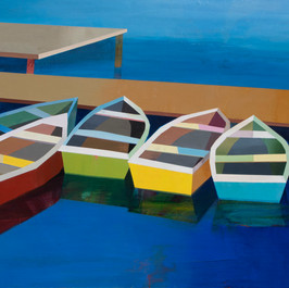 Colorful Boats in the Bay #28