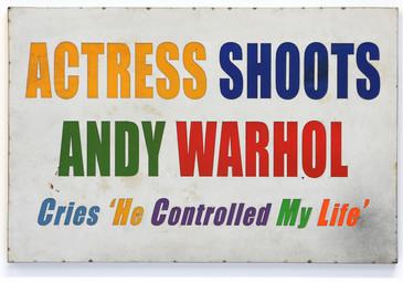 Actress Shoots Warhol