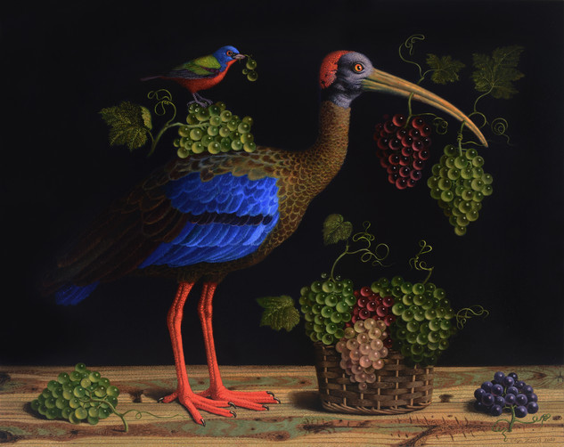 Birds' Hubbub: Grapes