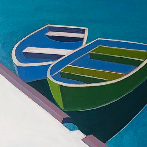 Green and Blue Boats