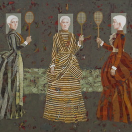 Five Striped Ladies (Triptych)