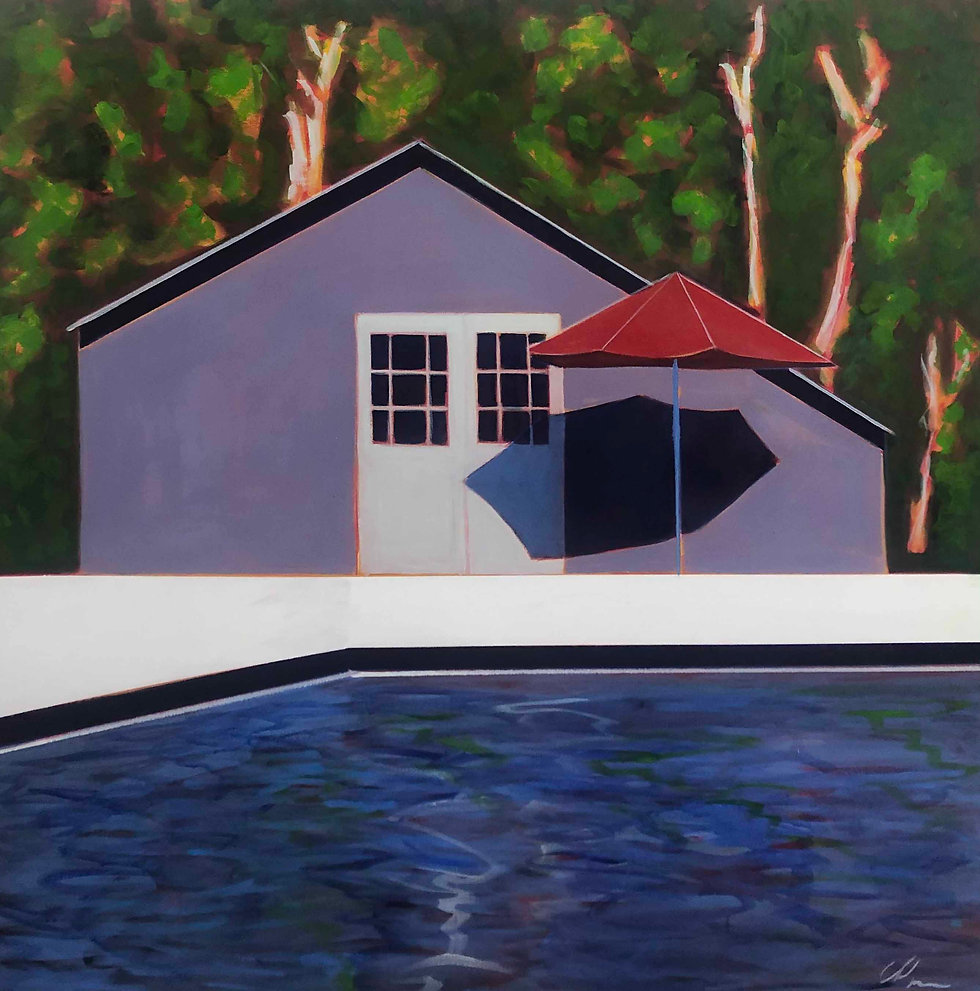 Pool Cottage and Red Umbrella   SOLD