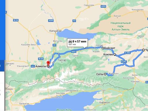750 km w Weekend na wschód w kierunku granicy z Chinami i Kirgizją