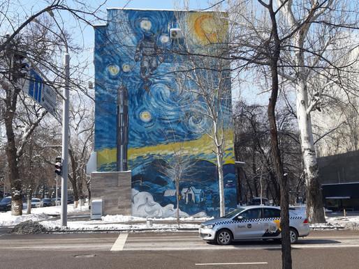 Murale w Ałmaty