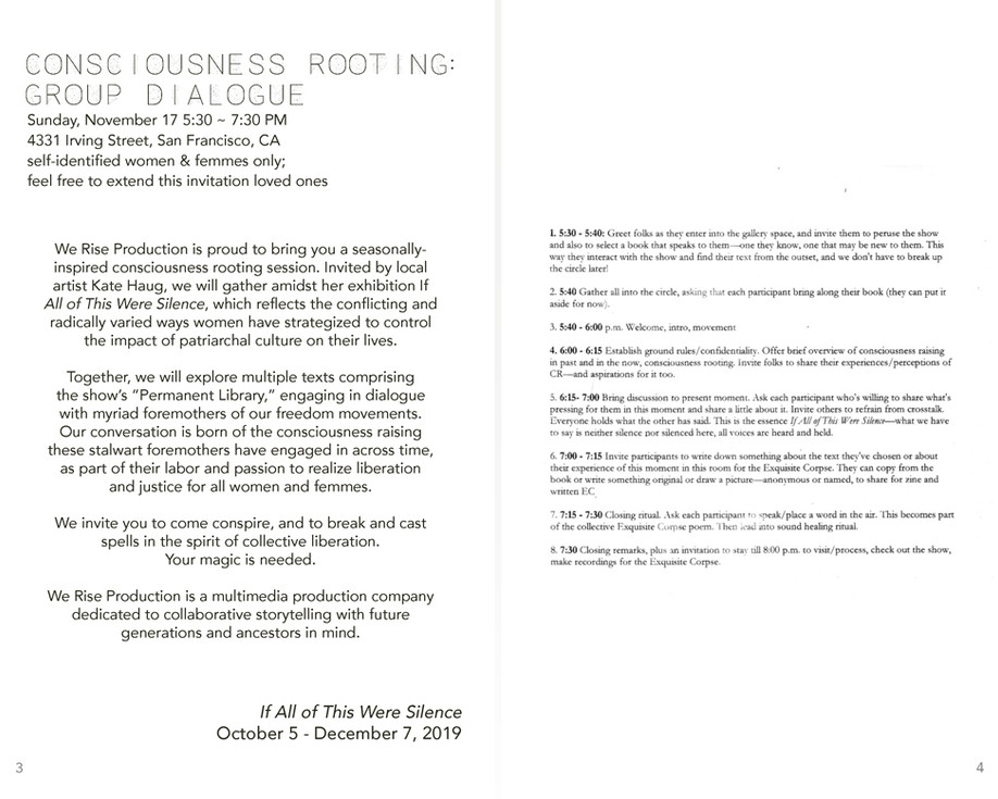 consciousness zine spread 2