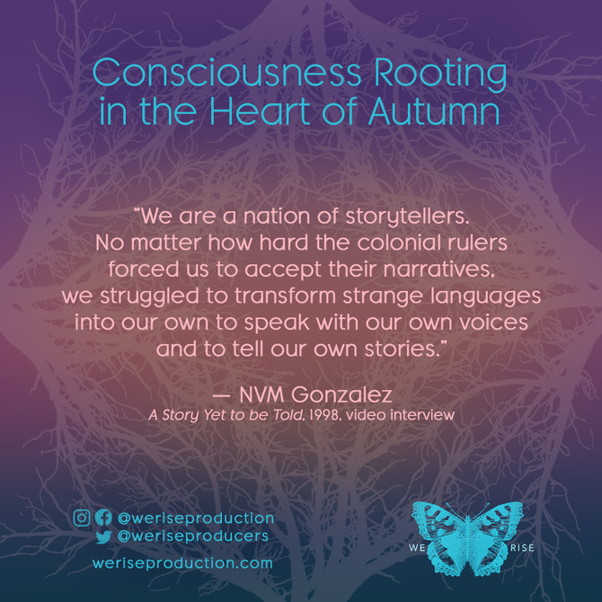 consciousness rooting in the heart of autumn