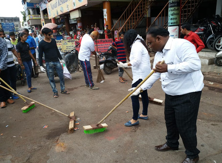 NATIONAL ANTI CRIME & HUMAN RIGHTS COUNCIL OF INDIA has organized the SWACHH BHARAT ABBIYAN
