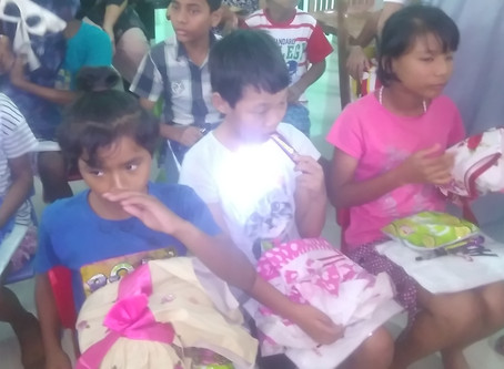 Cloth distribution by NACHRCOI to orphanage on 09/10/2018