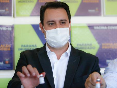 População paranaense acima de 18 anos será vacinada até 30 de setembro, afirma governador