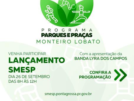 Programa Parques e Praças acontece neste domingo no Monteiro Lobato