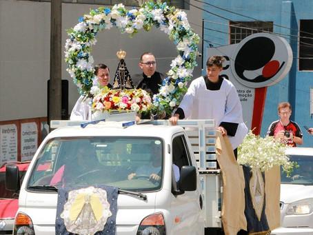 Santuário Diocesano promove missas e carreata no feriado da Padroeira