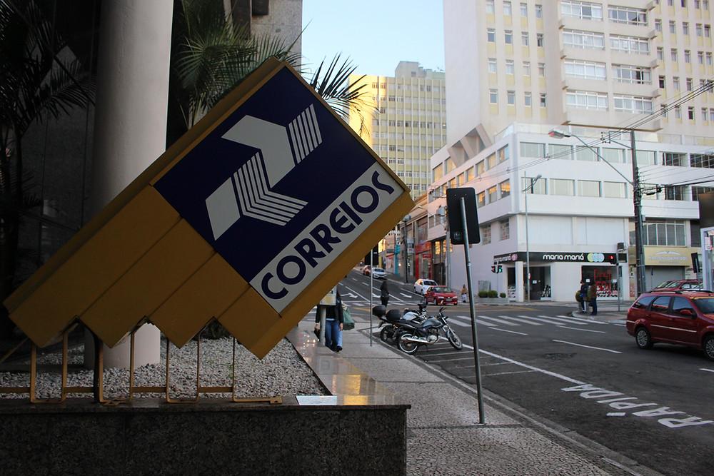 Agência dos Correios na Avenida Vicente Machado. Foto - Letícia Araujo/Rádio CBN Ponta Grossa
