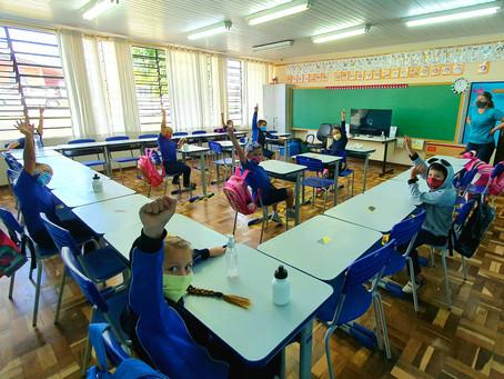 Secretaria diminui distanciamento entre carteiras para ampliar número de alunos nas escolas em PG