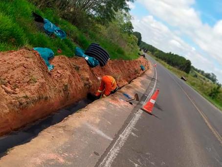 Rodovia entre Ponta Grossa e Palmeira tem obras de conservação