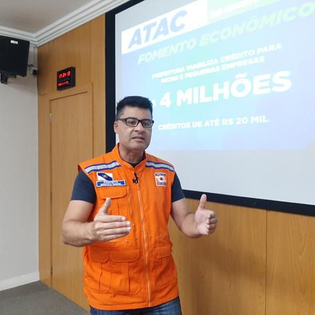 Covid-19: Prefeito anuncia crédito de R$4 milhões para pequenas e médias empresas