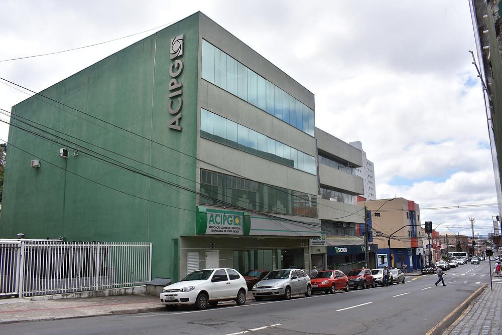 Sede da Associação Comercial e Industrial de Ponta Grossa (ACIPG) - Foto: Divulgação